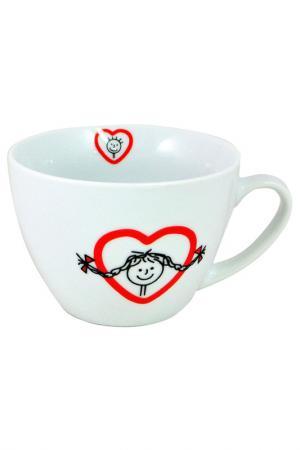 Юмбо-чашка Семья 1 шт. Федерация. Цвет: белый, красный