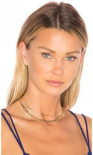 Колье-чокер arial Amber Sceats. Цвет: металлический золотой