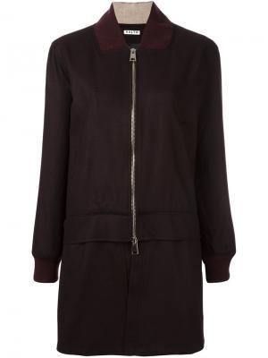 Длинная многослойная куртка бомбер Aalto. Цвет: красный