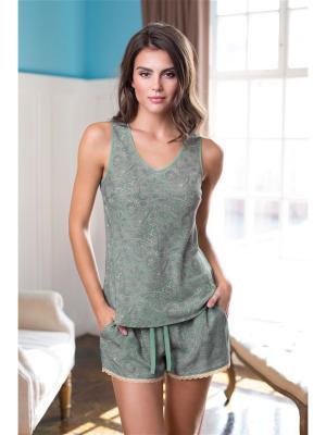 Комплект одежды Mia-Mia. Цвет: серо-зеленый
