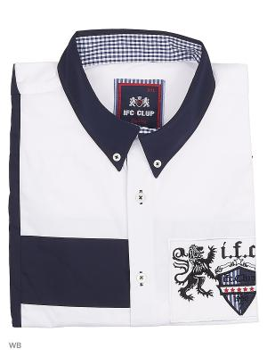Рубашка IFC. Цвет: синий, белый