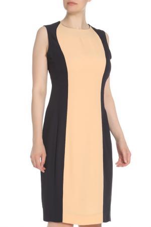 Приталенное платье по колено Marni. Цвет: бежевый