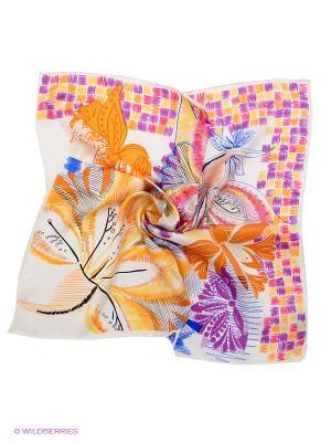 Платок Venera. Цвет: оранжевый, белый, фиолетовый