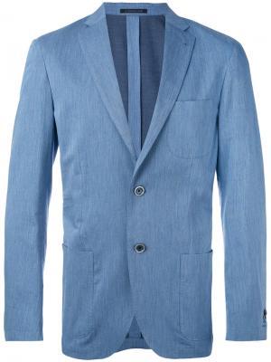 Пиджак с накладными карманами Corneliani. Цвет: синий