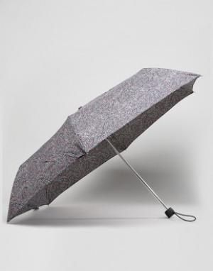 Fulton Ультракомпактный зонт в горошек. Цвет: черный
