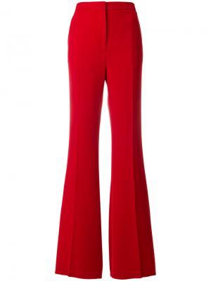 Расклешенные брюки с завышенной талией Rochas. Цвет: красный