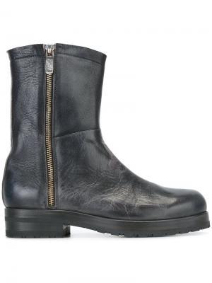 Ботинки с эффектом потертости Alberto Fasciani. Цвет: чёрный