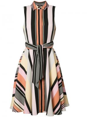Striped shirt dress Badgley Mischka. Цвет: многоцветный