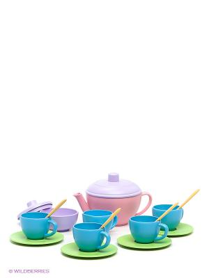 Чайный набор Green Toys. Цвет: голубой, бледно-розовый, сиреневый