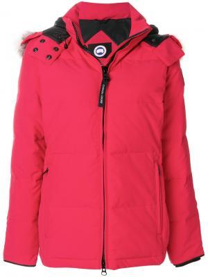 Дутая куртка Canada Goose. Цвет: красный