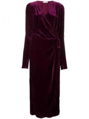 Вечернее платье Jane Attico. Цвет: розовый и фиолетовый