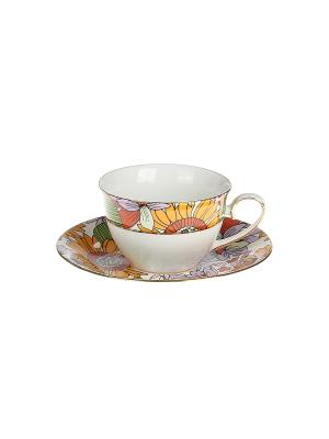 Набор чайный 2 предмета 220 мл. PATRICIA. Цвет: оранжевый