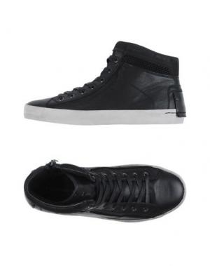 Высокие кеды и кроссовки CRIME LONDON. Цвет: черный
