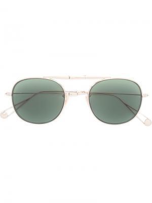 Солнцезащитные очки Van Buren Garrett Leight. Цвет: металлический