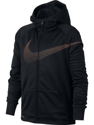 Толстовка B NK THRMA HOODIE FZ GFX Nike. Цвет: черный