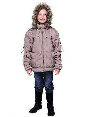 Куртка VELFI. Цвет: бежевый