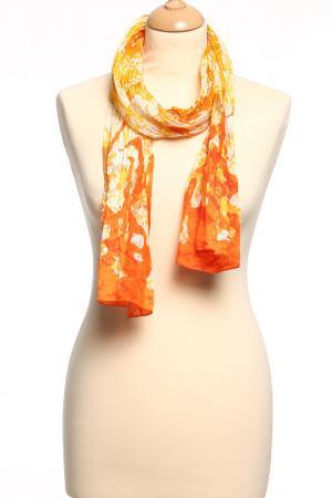 Шарф F.FRANTELLI. Цвет: оранжевый, желтый