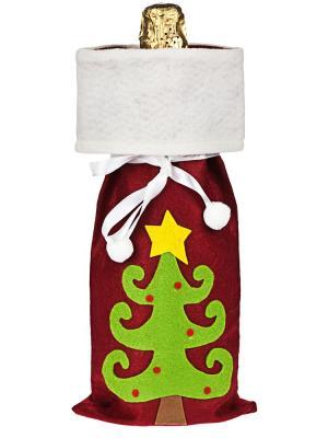 Мешок для шампанского Елочка Дерево Счастья. Цвет: красный