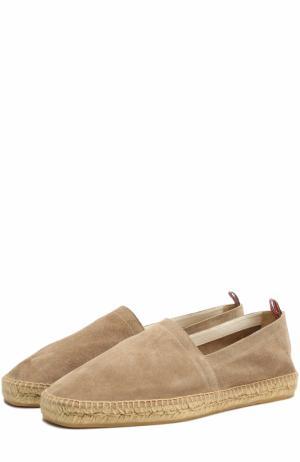 Замшевые эспадрильи на джутовой подошве Castaner. Цвет: бежевый