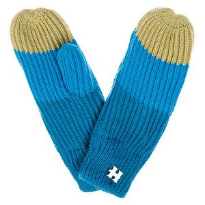 Варежки женские  Beatrice Gloves Blue/Turq/Lime Harrison. Цвет: голубой