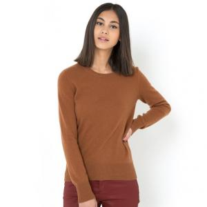 Пуловер с круглым вырезом, 100% кашемира R essentiel. Цвет: красный/ кирпичный
