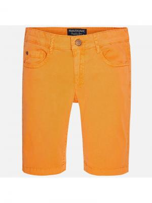 Шорты Mayoral. Цвет: оранжевый,горчичный