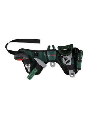 Ремень с игрушечными инструментами BOSCH KLEIN. Цвет: зеленый
