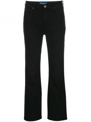 Укороченные расклешенные джинсы Marty Mih Jeans. Цвет: чёрный