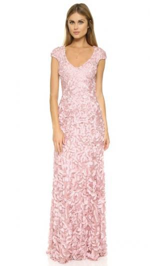 Вечернее платье Petal Theia. Цвет: «пыльный» розовый