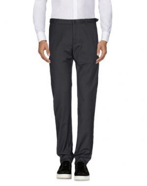 Повседневные брюки COSTUME NATIONAL HOMME. Цвет: свинцово-серый