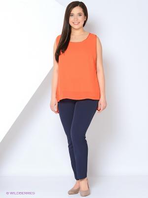 Майка Fiorella Rubino. Цвет: оранжевый