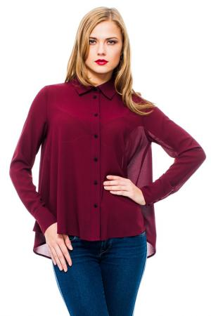 Блузка MONDIGO. Цвет: бордовый
