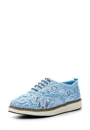 Ботинки oodji. Цвет: голубой