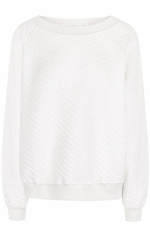 Стеганый хлопковый пуловер Wildfox. Цвет: белый