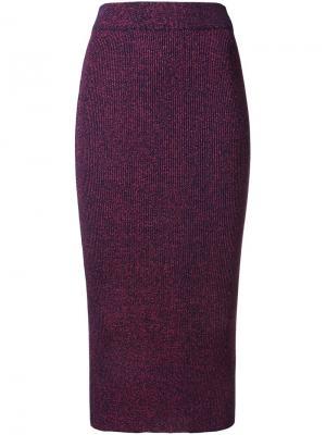 Трикотажная юбка с блестящей отделкой G.V.G.V.. Цвет: красный
