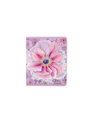 Тетрадь в клетку Цветочный рай, 48 листов, 5 шт. Альт. Цвет: синий