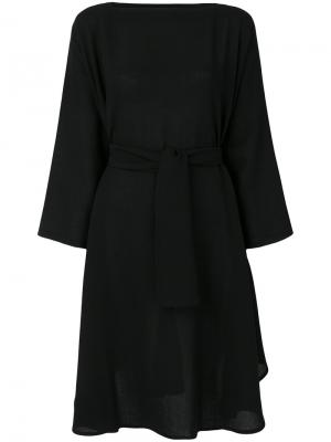 Belted sweater dress Daniela Gregis. Цвет: чёрный