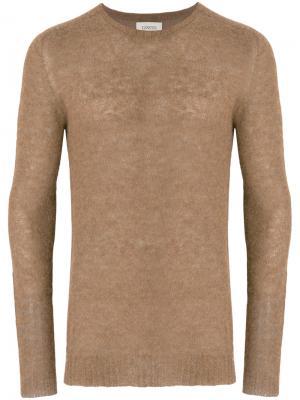 Джемпер с круглым вырезом Laneus. Цвет: коричневый