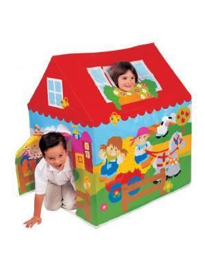 Игровой центр домик 95х75х107см от 3лет Intex. Цвет: зеленый, голубой, красный