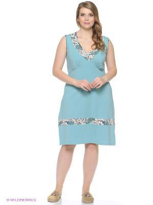 Ночная сорочка PELICAN. Цвет: голубой