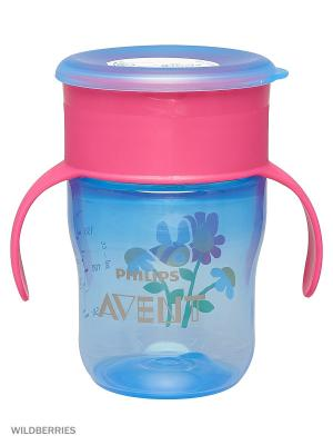 Взрослая чашка Philips Avent SCF782/20, 260 мл, 9 мес.+. Цвет: голубой, прозрачный