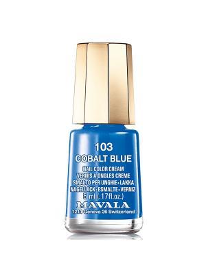 Лак для ногтей тон 103 Cobalt Blue Mavala. Цвет: синий