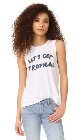 Майка Lets Get Tropical South Parade. Цвет: белый