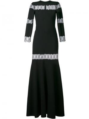 Платье с кружевными вставками Huishan Zhang. Цвет: чёрный
