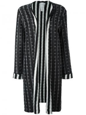 Однобортное пальто Federica Tosi. Цвет: чёрный