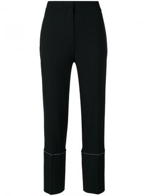 Классические брюки с контрастными панелями по бокам Proenza Schouler. Цвет: чёрный