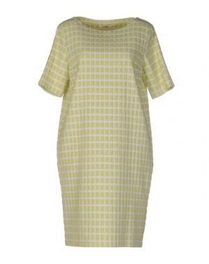 Короткое платье BARBON. Цвет: светло-зеленый