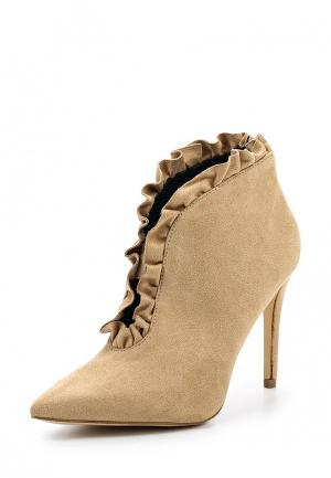 Ботильоны WS Shoes. Цвет: бежевый