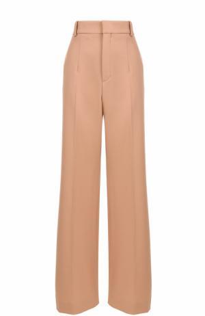 Расклешенные брюки со стрелками Chloé. Цвет: бежевый