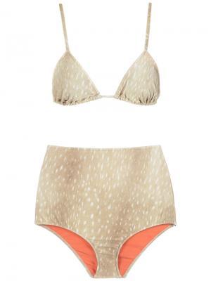 Velvet hot pants bikini set Adriana Degreas. Цвет: телесный